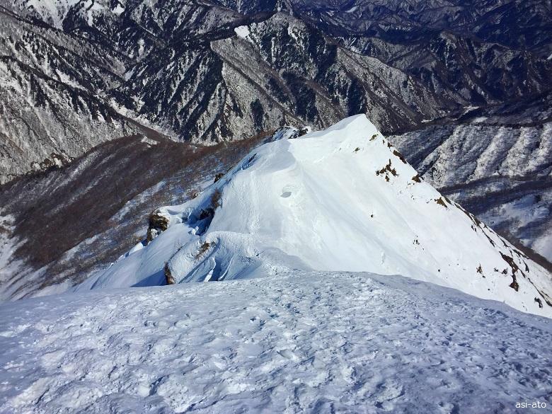 残雪の西黒尾根