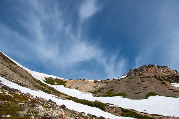 白馬鑓温泉 残雪ルート