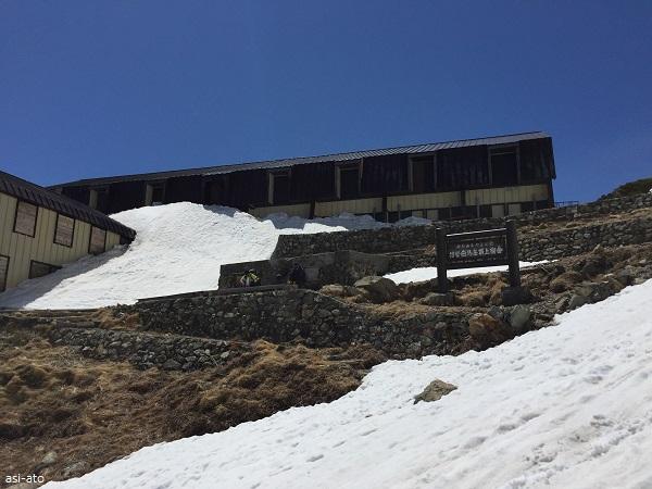 白馬大雪渓 白馬岳頂上宿舎