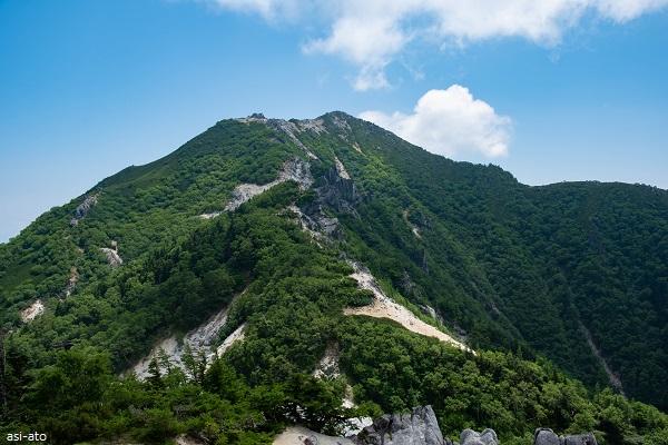 地蔵岳から観音岳へ
