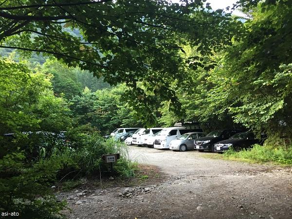 鳳凰山 青木鉱泉 駐車場