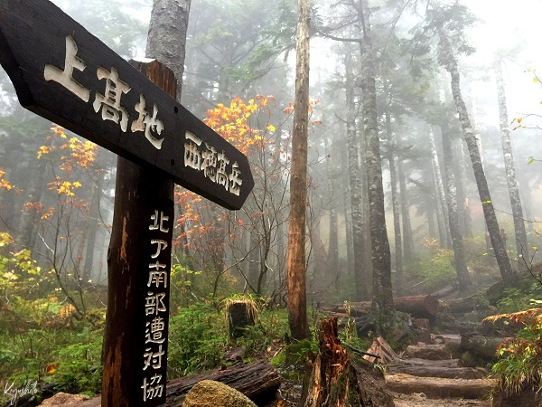 西穂高岳 焼岳 登山道